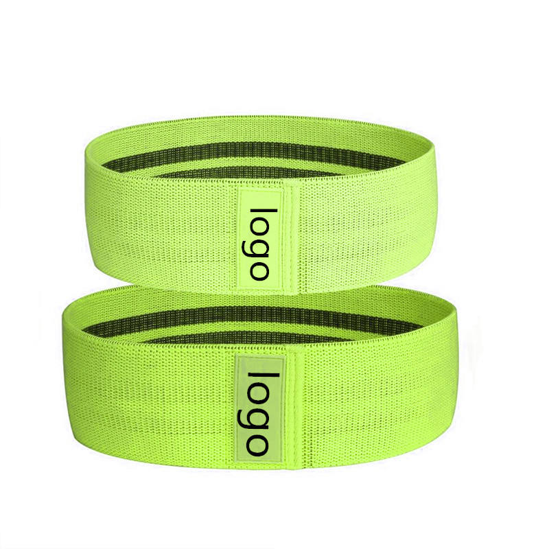 2019 neue design mode stoff fitness yoga widerstand band gym workout hüfte bands für hocken, bein, glute, booty workout