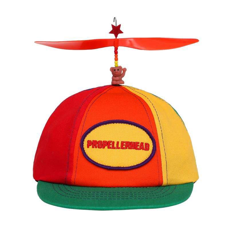 Wholesale Kids 6 Panel Multi Color Children cap with Propeller Baseball Cap Small Flat Brim Hat For Spring Autumn Outing