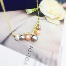 Custom Supplier Pearl Necklace Jewelry Silver Freshwater Pearl Necklace Natural Pearl Silver Pendant for Jewelry Making