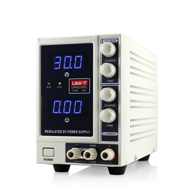 sale promotion One Channel DC Power Supply Meter, DC Voltage and Current Supply, 0-30V/0-5A, UTP3315TFL