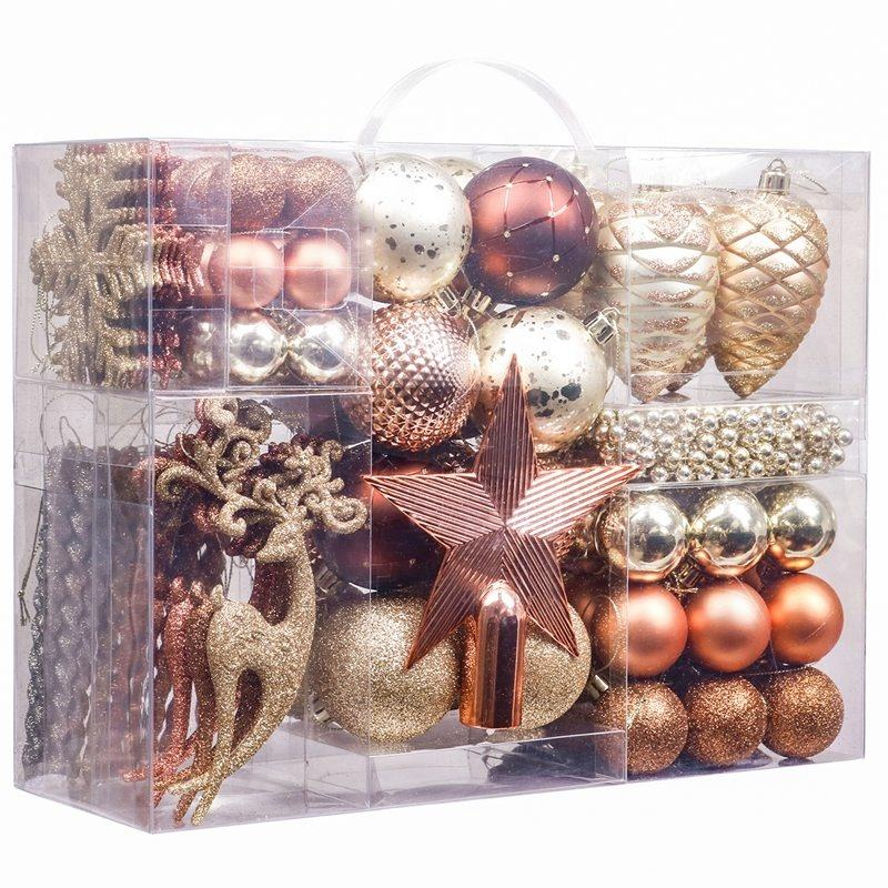 EAGLEGIFTS Supplies 6cm Gold Color Custom Made Baubles Shatterproof New 2021 Bulk Personalised Christmas Ball Ornaments for Home