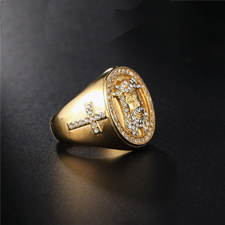 Wholesale customized stylish tat iced out baguette 925 silver cz boy gay moon stone diamonds ring designs for men