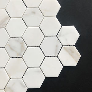 48x48mm Calacatta Or Marbre Hexagone Carrelage