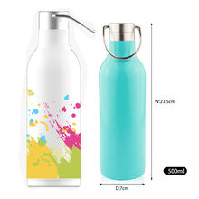 18/8 Stainless Steel Sports Insulated 17oz Water Bottle for Cyclists, Runners, Hikers, Beach Goers, Picnics, Camping
