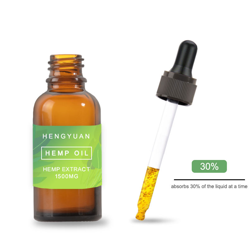 In Stock Hemp Oil Bottle Glass Packaging Dropper Bottle Full Size For CBD Oil