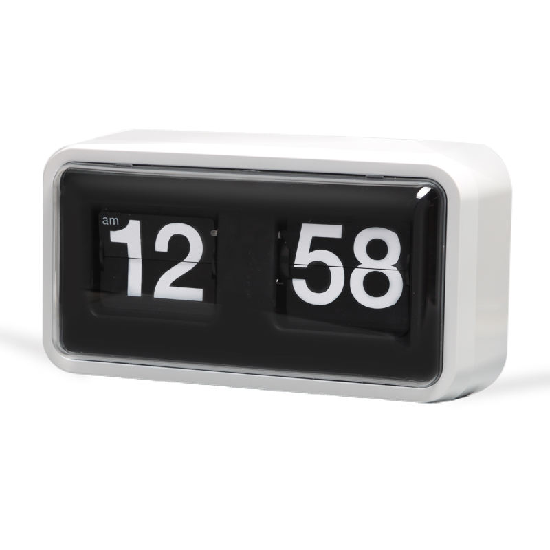 2020 Whole Sale China New Design Simple Modern Unique Retro Concise Personality Page Turning Flip Desk Clock