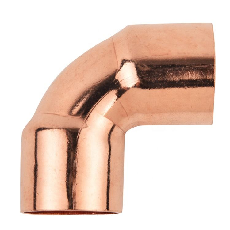 OEM brand manufacturer copper to copper 3/8 Inch 90 degree Elbow copper pipe fittings