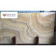 Trade assurance polished rainbow marmor clear brown cloud onyx yellow marble stone slab marble tile thickness cheap price