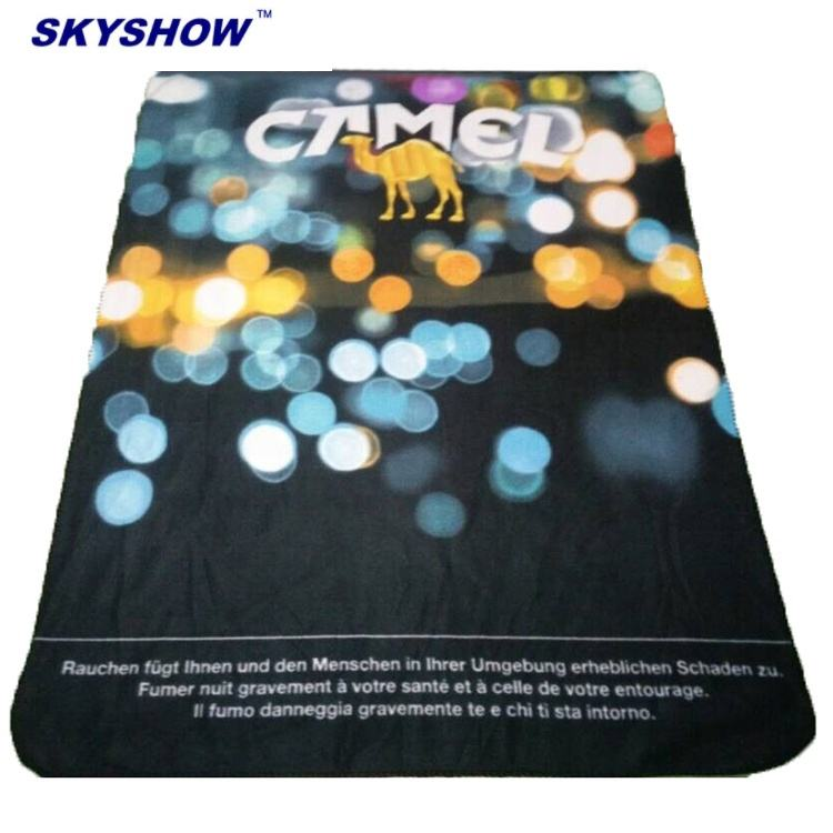 Wholesale Cheap Price Personalized Custom For Sublimation Print Super Soft Travel Fleece Microfiber Blanket