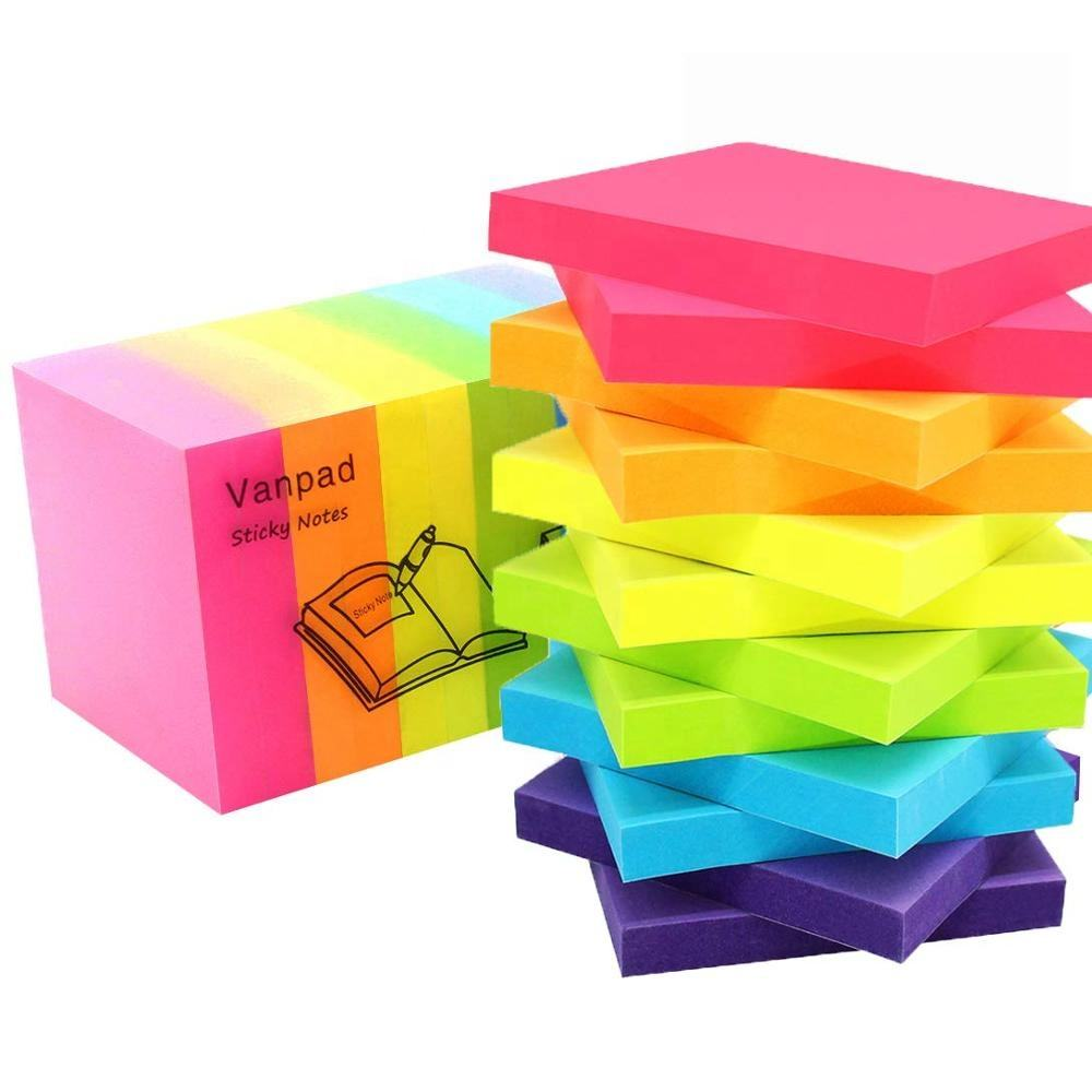 Good Quality Stationery Office & School Colorful 400 sheets 3x3 inch Colored Sticky Notes