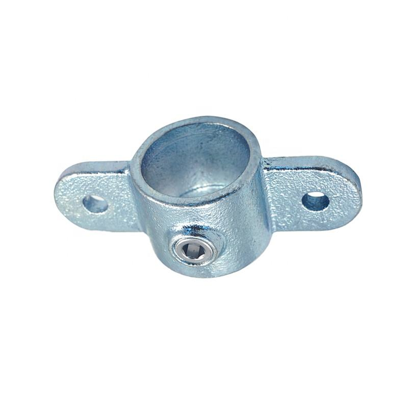 Hot galvanized cast iron quick release pipe clamp fittings Single Socket Tee