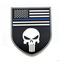 Punisher mickey rubber patch logo PVC patches for clothing