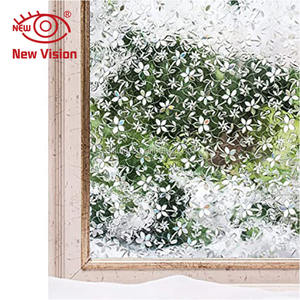 Geen Lijm Decoratie Sticker Bloem Geometrische Patroon Privacy Frosted Stained Static Cling Glass Window Film