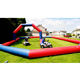 Inflatable car racing track /zorb racing track / inflatable go car racking