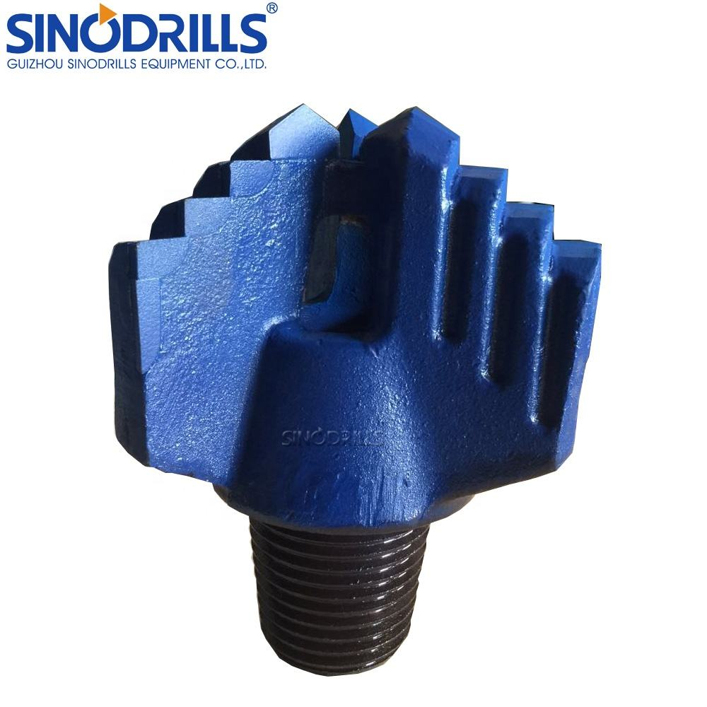 Water well drilling API reg pin thread 3 wings 6 inch drilling drag bit