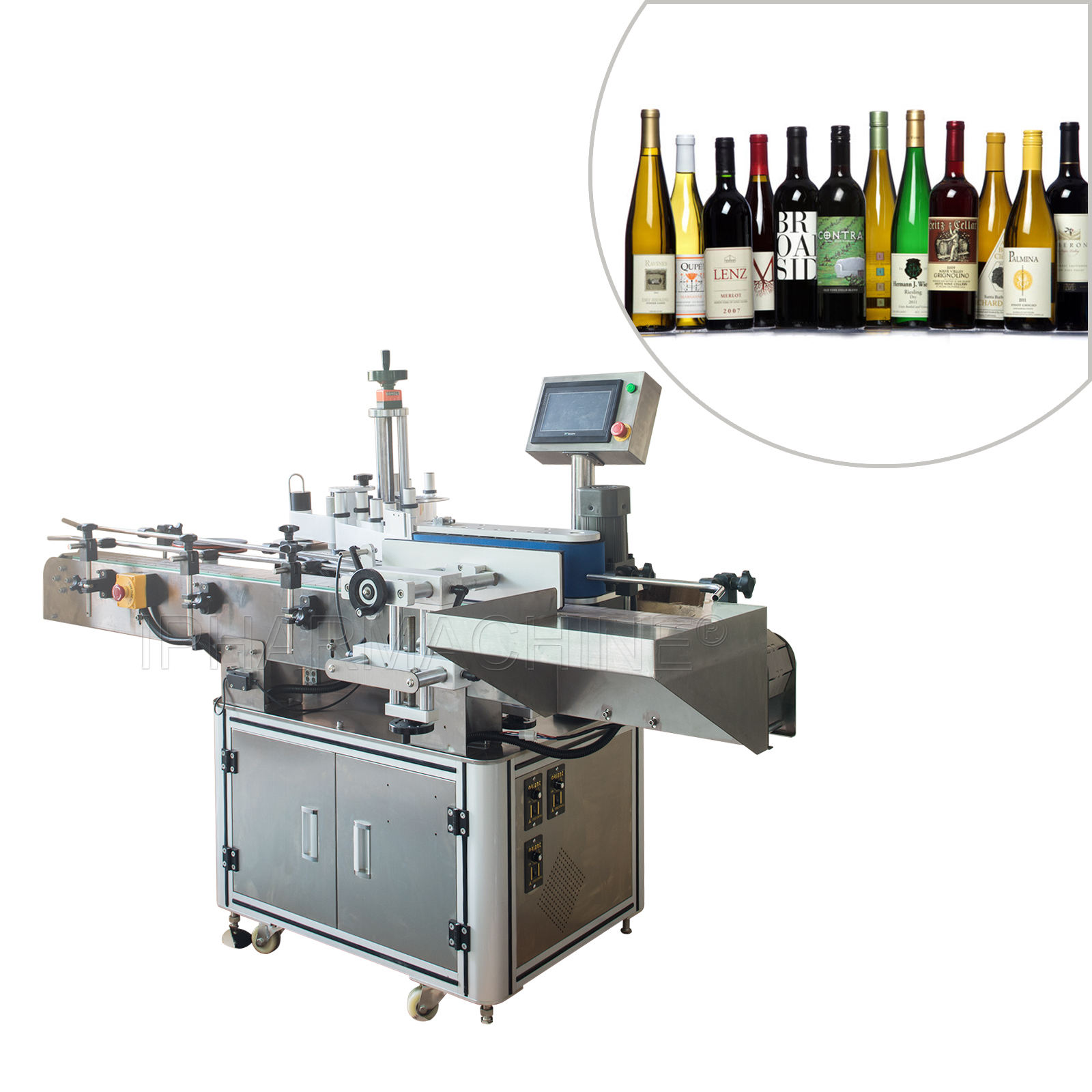 Automatic Horizontal Printing Round Plastic Bottles Labeling Machine