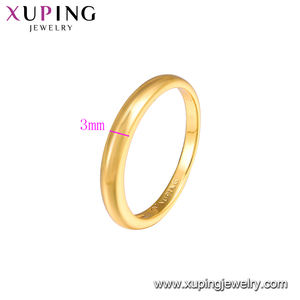 16544 Xuping Environmental Copper jewelry 24k gold wholesale custom ring
