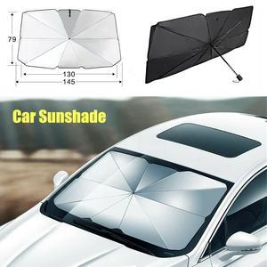 Parasole Argento Nero L Auto Finestra Anteriore Parasole Parabrezza Ombrello Blocco di Calore Protezione UV Copertura