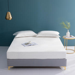KAERFU wholesale cheap single satin white bed sheets from China