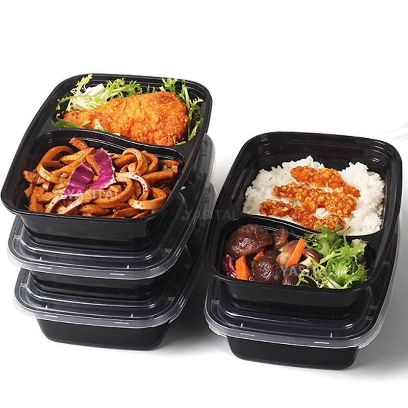 Factory Price Disposable 2 Compartment 3 CompartmentPlastic Take Away Bento Lunch Box Food Container
