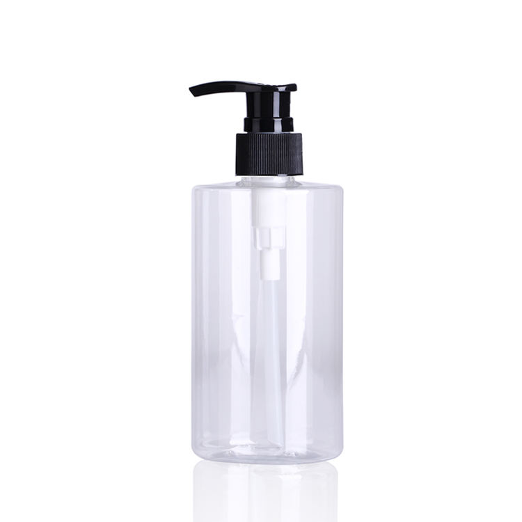 Low MOQ 300ml liquid hand soap bottle plastic PET bottle 300ML empty pump bottle