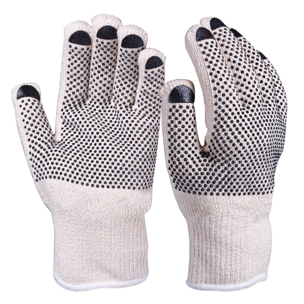Wholesale Price Durable Heavy Weight Double Ply PVC Dots Terry Loop Heat Resistant Gloves for Automotive