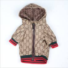 Fashion brand zip-up pet jacket waterproof dog clothes coat