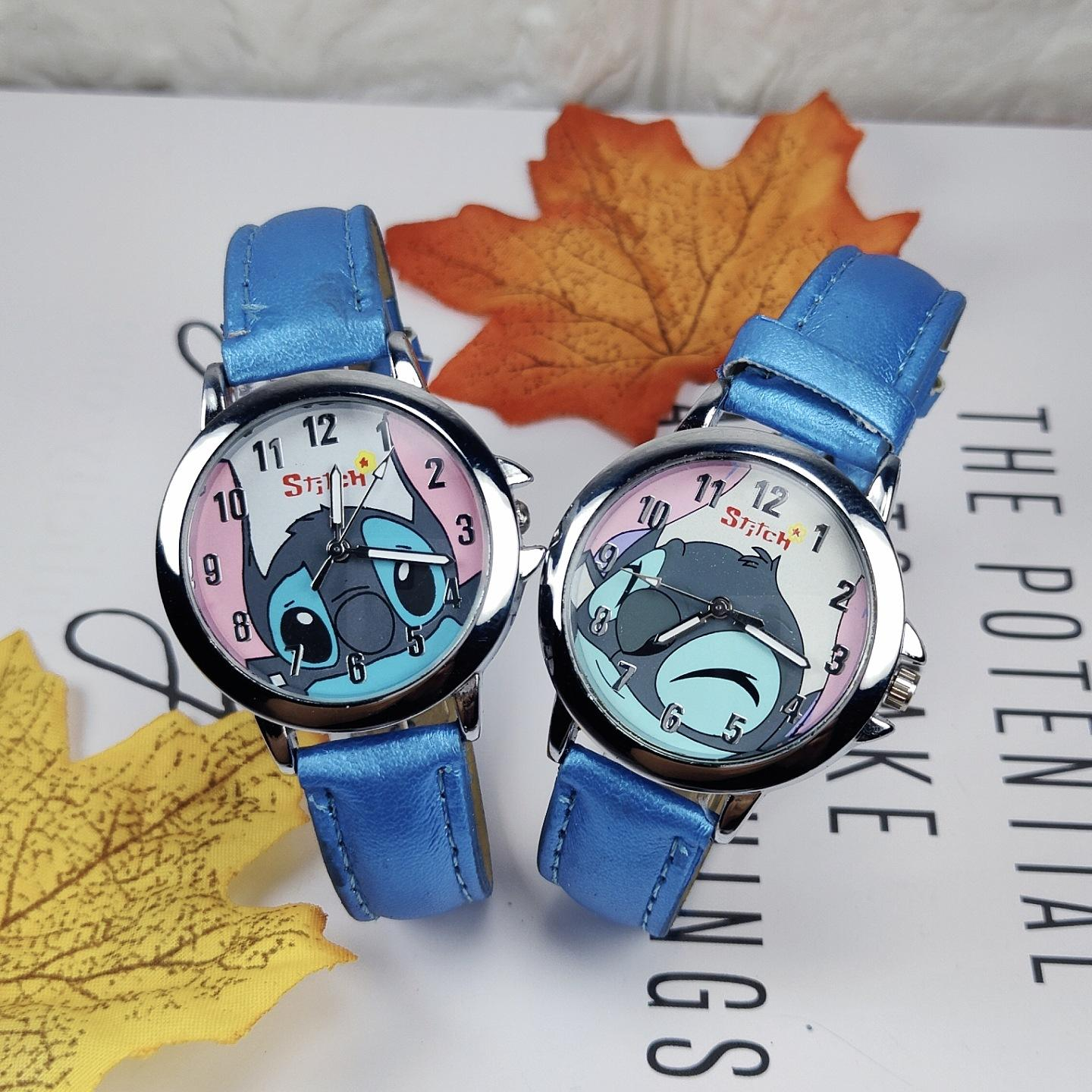 Fashion boys girls watch cute cartoon kids watches leather strap quartz watch for children lovely gift kids clock