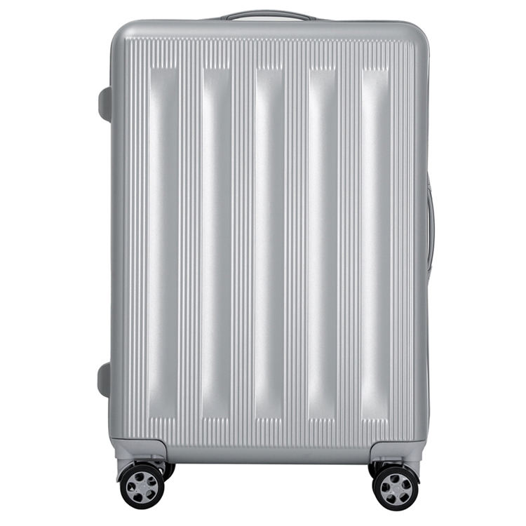 Genuine leather fold trolley carbon fibre suitcase