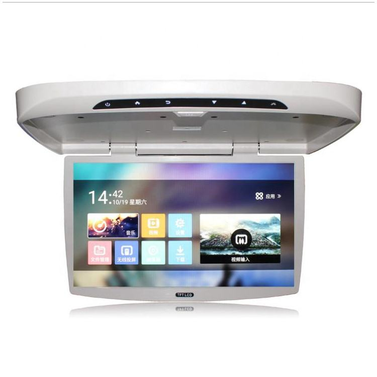 19 21 22inch Screen Android Roof mount Flip down monitor Car Ceiling Mounted Monitor Bus LCD TV with MP5 USB