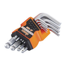 High strength crv steel 9pcs short ball point allen key set