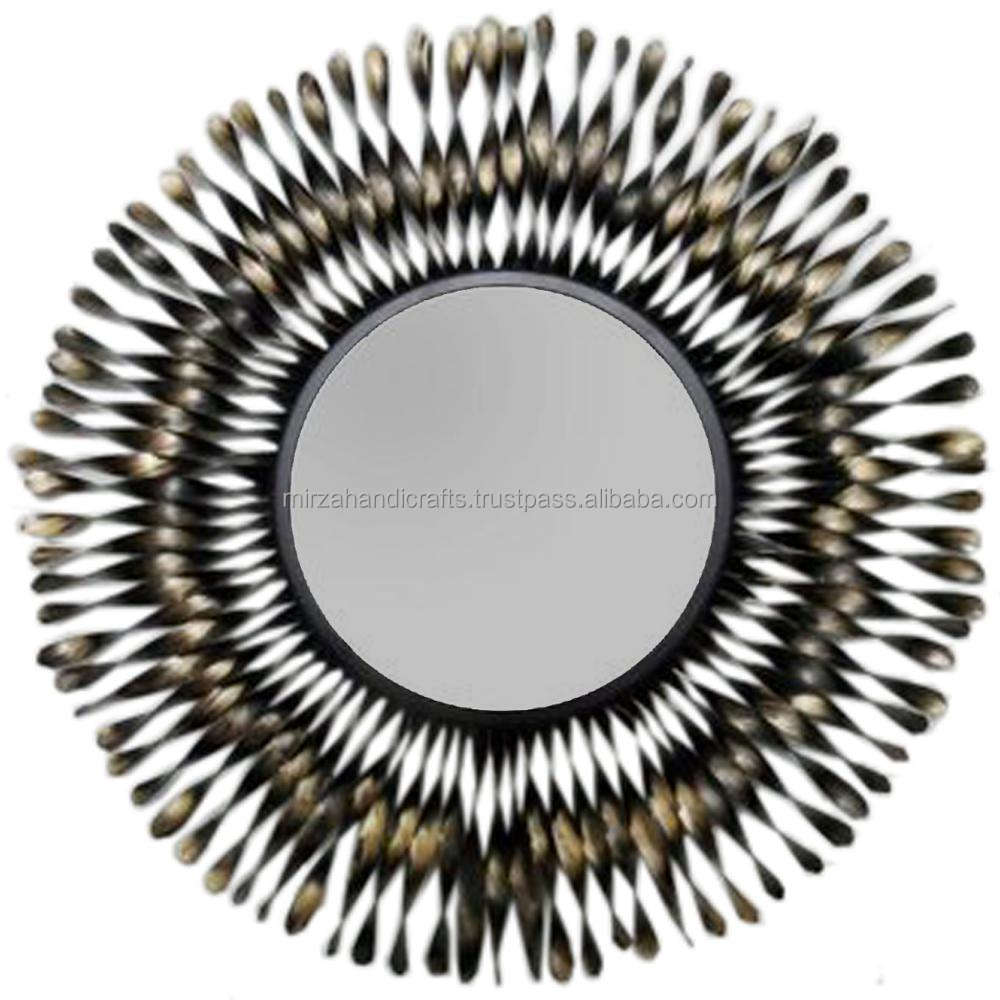 BEAUTIFUL ROUND 3D WALL MIRROR