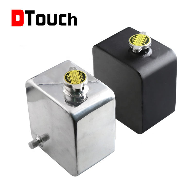 Dtouch 2.5L Universal Aluminium Alloy Water Coolant Header Overflow Expansion Tank <span class=keywords><strong>Reservoir</strong></span> (Polished)