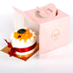 China wholesales custom paper cake box packaging box with handle