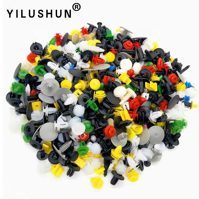 500PCS Universal Auto Rivet Clips Car Retainer Fasteners Mixed
