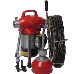 snake sewer pipe drain cleaning machine / electric drain cleaning