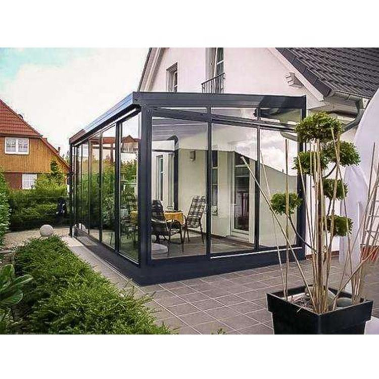 Four-Season glass green houses commercial prefab sunroom sets for sale