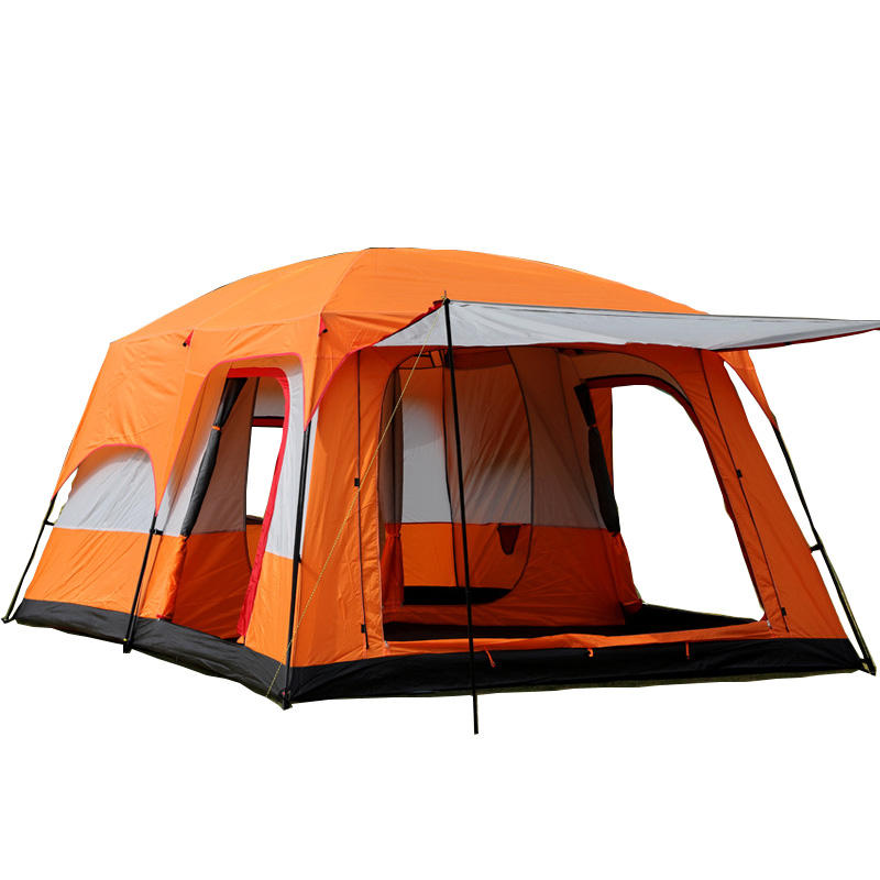 Large luxury family tent 8-12 persons tent camping tent for outdoor