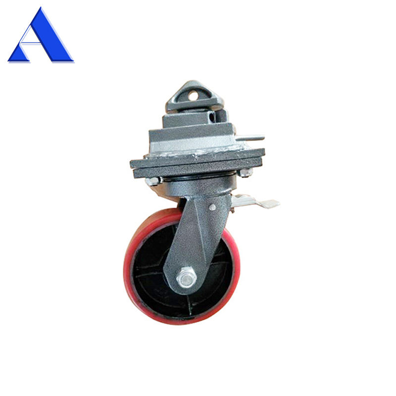 2T 3T 5T Quick Lock Swivel or Rigid Caster ISO Shipping Container Wheel