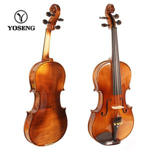 Top Sale European Model Flamed Cheap Student Solid Violin