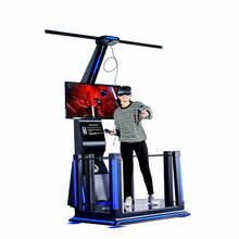 Most popular Amusement equipment interactive virtual reality experience 9D VR Simulator with htc vive headset
