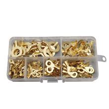 150pcs acid washing DJ4311-3.2/4.2/5.2/6.2/8.2/10.2 ring brass terminal  kits