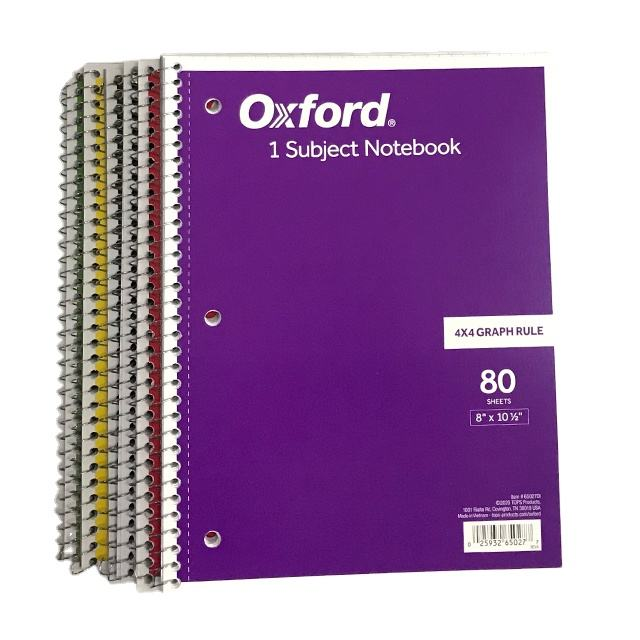 Spiral Notebook 80 sheets purple