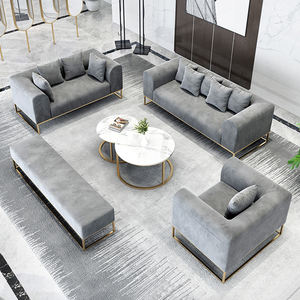 2020 chinese recliner sectional designs za kisasa grey puff modern sofa