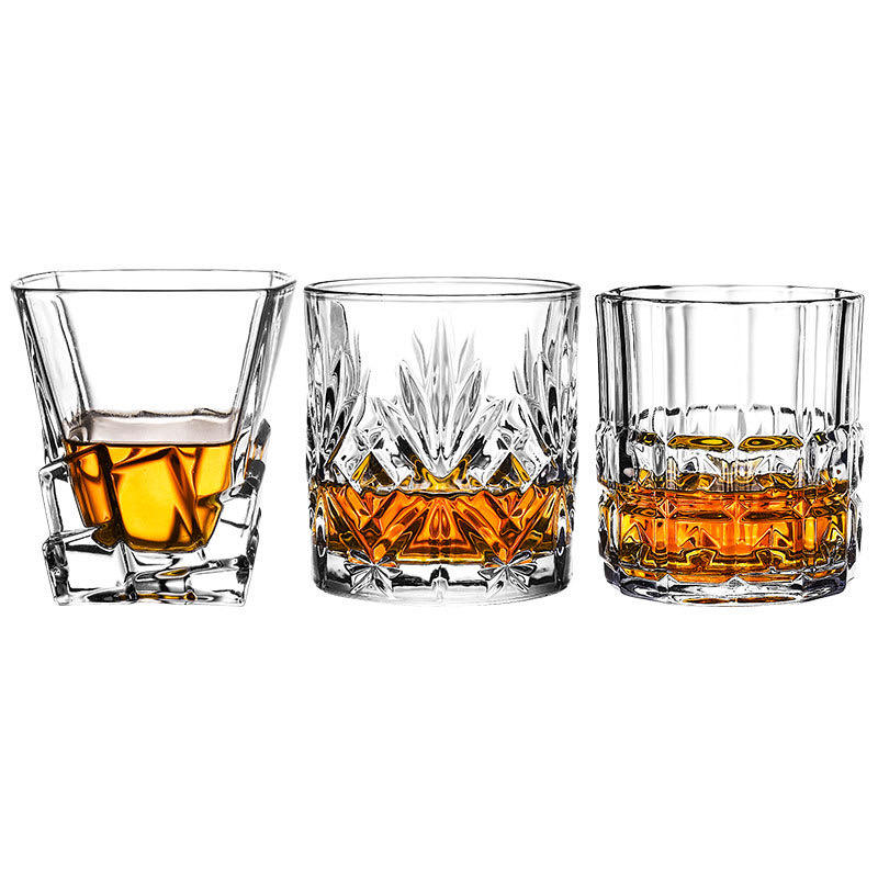 Whiskey Glasses Tumbler Bar Glass Set - Drink Glassware for Wine, Water, Juice, Beer and Cocktails 10OZ drinking glasses