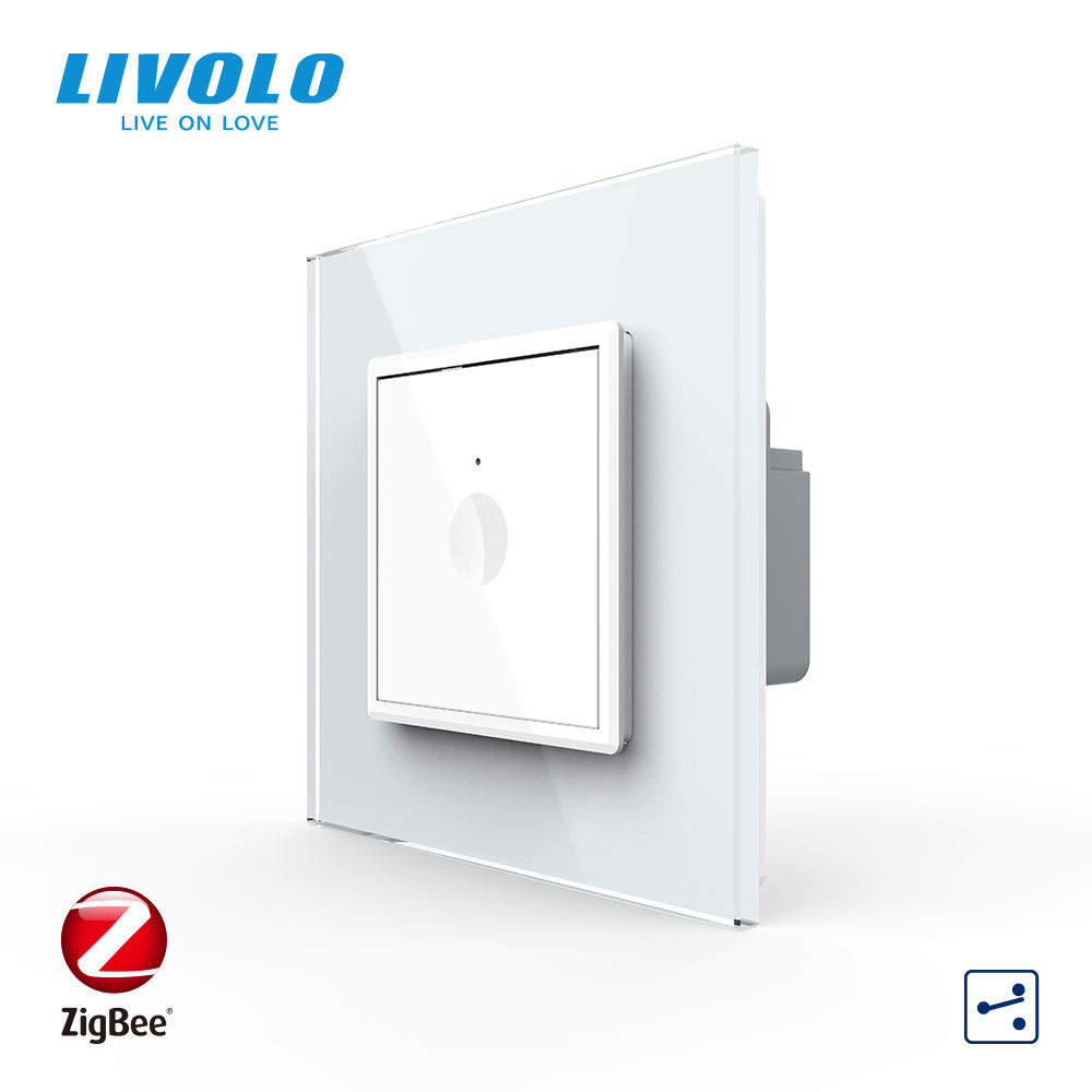 Livolo B6 UK Standard ZigBee 1 gang Dual control Touch module alexa smart switch home echo