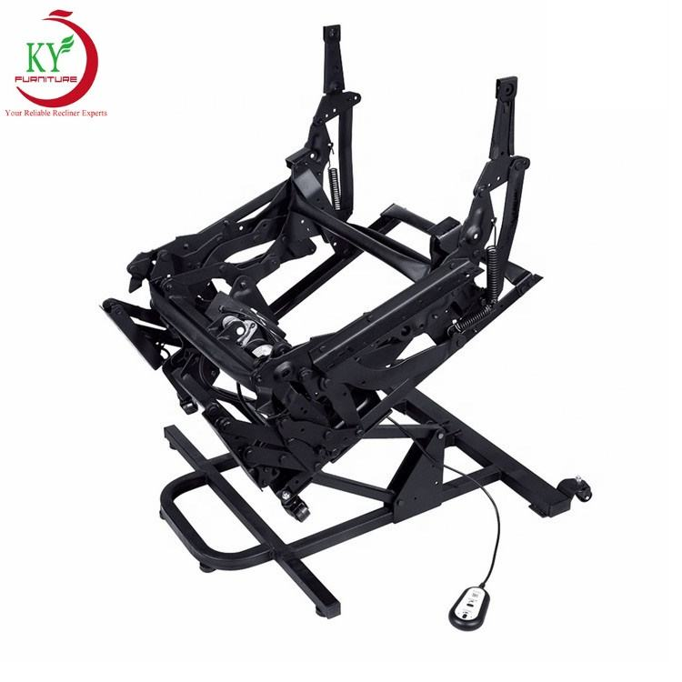 JKY Furniture Power Lift Rise Tilt Living Room Metal Steel Recliner Folding Sofa Chair Mechanism With Electric Linear Actuator