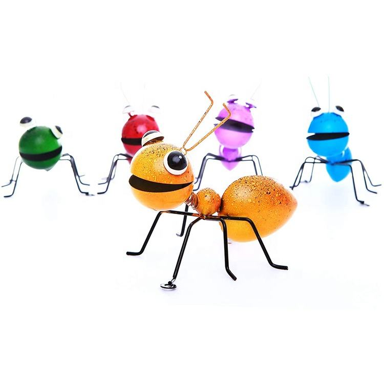3D Colorful Metal Ant Decor Garden Yard Art Wall Sculptures for Outdoor Backyard Porch Home Patio Lawn Fence Decorations