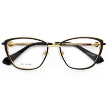 Luxury Fashion Metal Eyewear Frames Eyeglasses Combined Colorful Optical Glasses For Ladies