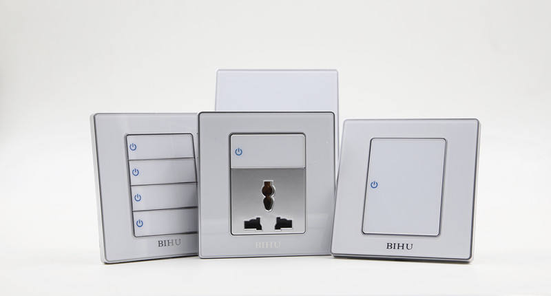 click button led indicator wall lights switch 3gang 1way for home